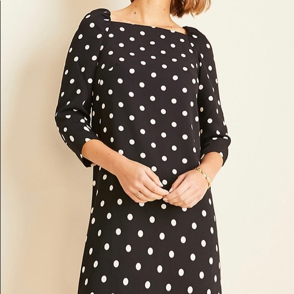 Ann Taylor Dresses & Skirts - NWT Ann Taylor Polka Dot Square Neck Shift Dress